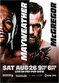Floyd Mayweather VS Conor McGregor Fight Card Art Print Size 13x20 24x36 (24
