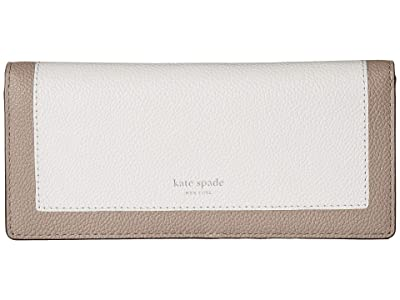 Kate Spade New York Margaux Bifold Continental Wallet (Optic White Multi) Checkbook Wallet