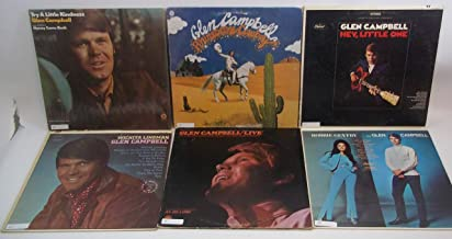 Glen Campbell Lot of 6 Vinyl Record Albums Rhinestone Cowboy and more
