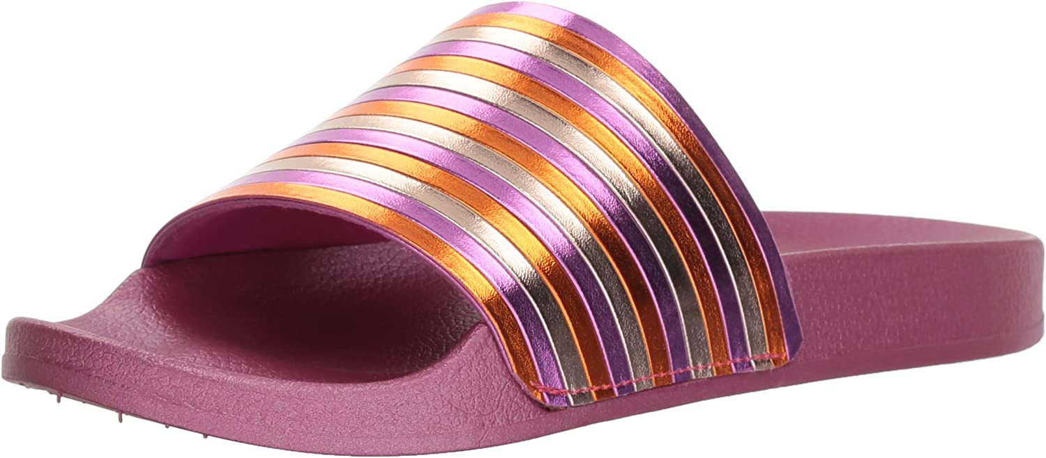 Kenneth Cole REACTION Women's Pool Sporty Slide Sandal with Piping Detail