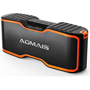 AOMAIS Sport II+ Bluetooth Speakers, Portable Outdoor Wireless Speaker, 30H Playtime, 20W HD Stereo Sound & Richer Bass, IPX7 Waterproof, 100ft Bluetooth for Travel, Party, Beach【2019 Upgrade Version】