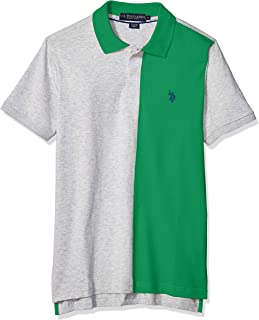 Men's Color Block Solid Jersey Polo Shirt