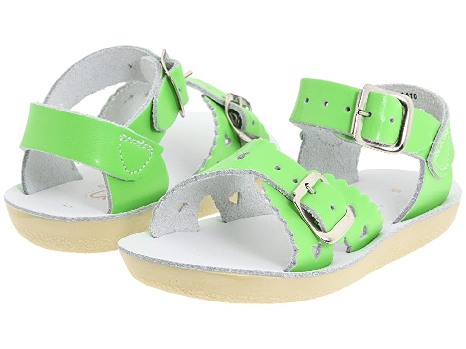 Salt Water Sandal by Hoy Shoes Sun-San Sweetheart (Toddler/Little Kid) (Lime Green) Girls Shoes