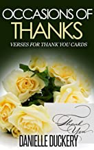 Occasions Of Thanks: Verses For Thank You Cards (English Edition)