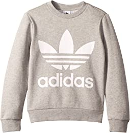 277e4563bbc5 adidas Originals. Trefoil Crew Sweatshirt.  64.95. Medium Grey Heather White