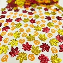 Thanksgiving Confeti Halloween Confetti-Maple Leaf Pumpkin Sequin Autumn Party Metallic Creater Fall Sequin Sprinkles Tabl...