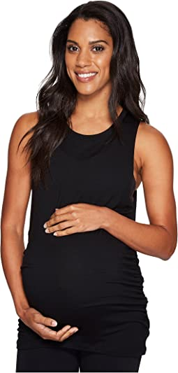 Beyond Yoga - Slinky Modal Twisted Open Back Maternity Tank Top