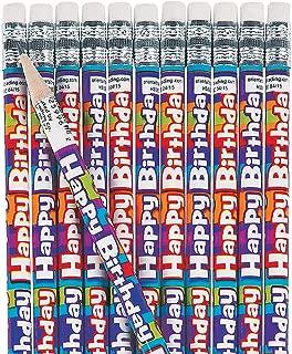 Fun Express Happy Birthday Pencils for Birthday - 48 Pieces