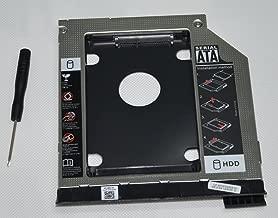 DY-tech 2nd HDD SSD Hard Drive Caddy Adapter for Dell Latitude E6320 E6420 E6520 E6330 E6430 E6530 Modular Bay with Ejector + Bezel / faceplate