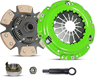 6-Puck Clutch Disc Stage 2 Clutch Kit Set works with Escape Escort Mazda Tribute Mercury Tracer Limited XLS LS GS Trio Deportivo Equi Mid Sport 1997-2004 2.0L l4 GAS DOHC Naturally Aspirated