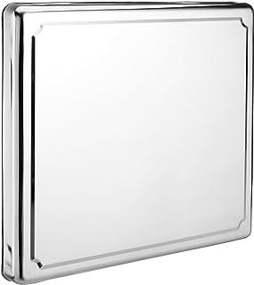 Jocca - 6414 - Couvercle de plaque de cuisson en acier inoxydable, Argent, 60.5 x 52.5 x 5.5 cm