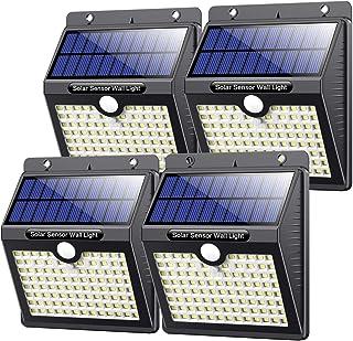comprar comparacion VOOE Luz Solar Exterior 97 LED 4 Pack / 3 Modos / 2200mAh Foco Solar con Sensor de Movimiento Luces Solares para Exterio...