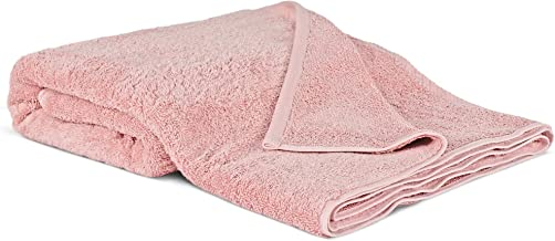 100% Luxury Turkish Cotton, Eco-Friendly, Soft and Super Absorbent Oversized 40'' x 80'' Bath Sheet (Pink, 1 Piece)