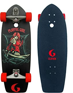 Glutier Surfskate Playfull Girl 29 with T12 Surf S...
