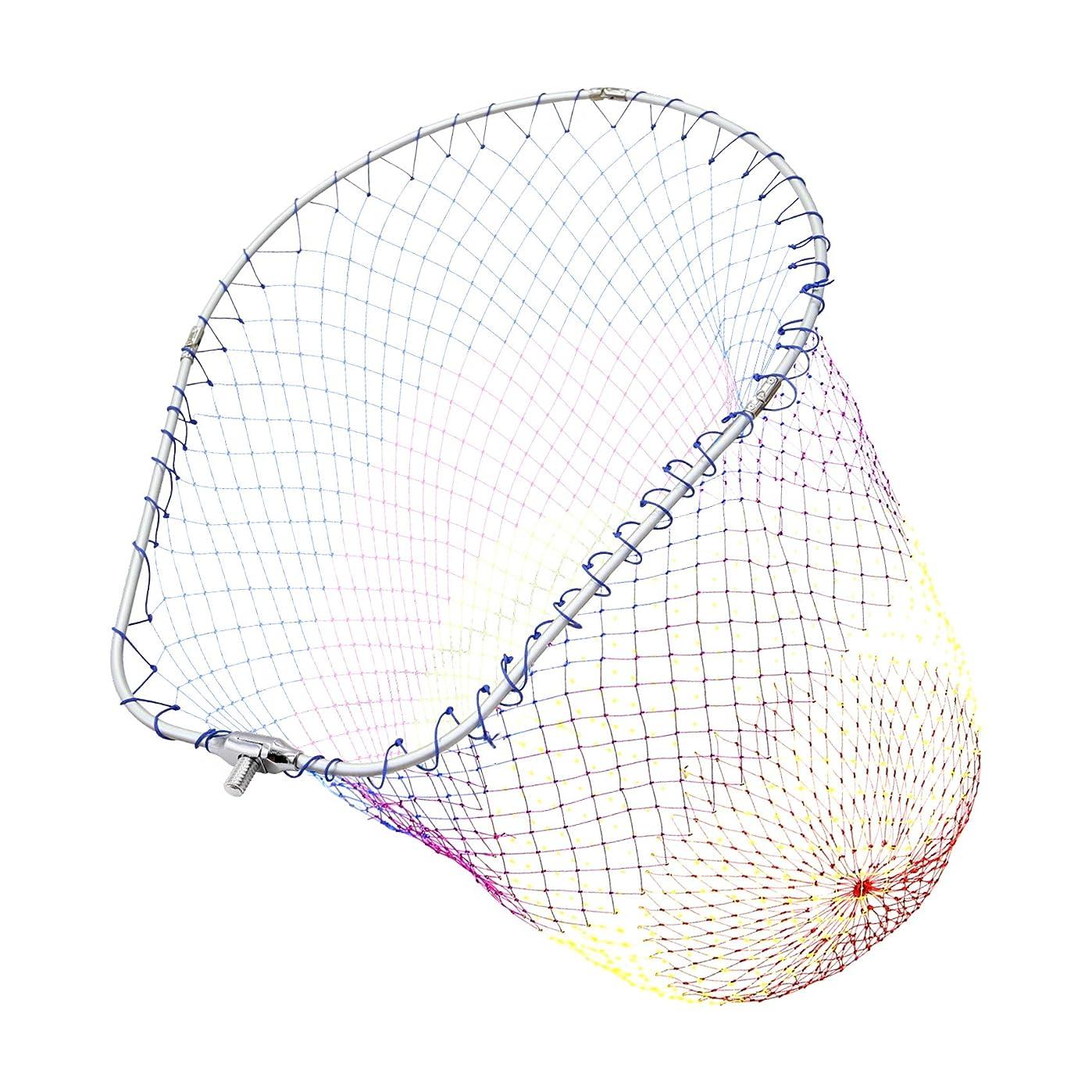 偽善非難電報SANLIKE タモ網 アルミオーバルフレーム 大型たも網 折りたたみ玉枠 ランディングネット 玉網35/45/50cm