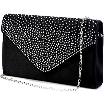 Nodykka Purses and Handbags Envelope Evening Clutch Crossbody Bags Classic Wedding Party Shoulder Bag for Women