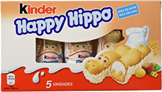 Kinder - Happy Hippo - Barritas de Chocolate - 5 unidades x