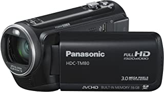 Panasonic HDC TM80EG9K Full HD Camcorder (16 GB int. Flashspeicher, 34 fach opt. Zoom, 6,7 cm (2.6 Zoll) Touch Display, Bildstabilisator) schwarz
