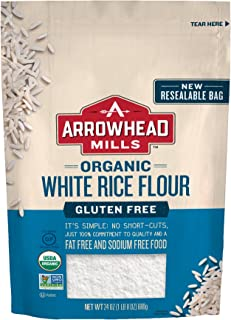 Arrowhead Mills Organic White Rice Flour, Gluten Free, 24 Ounce Bag (Pack of 6)