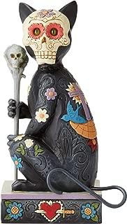 Enesco Jim Shore 6004327 Day of The Dead Cat Figurine, Resin,6.5Inches,Multicolor