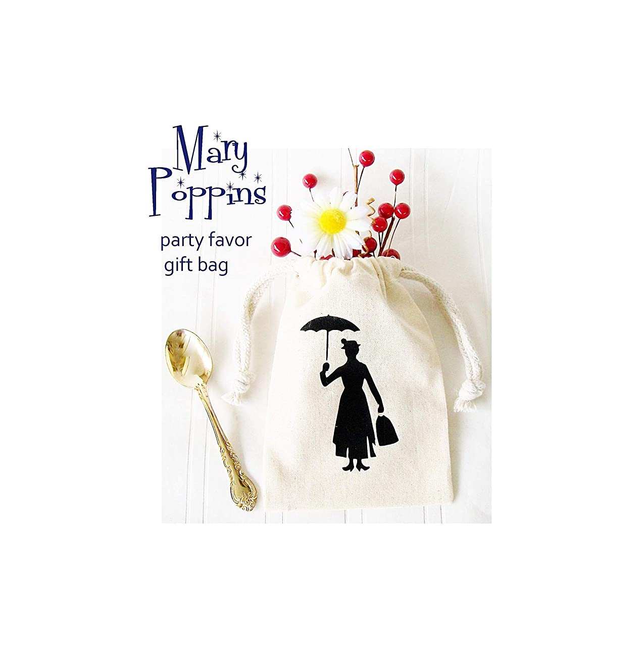Mary Poppins Party Favor Gift Bags Set of 6, 4