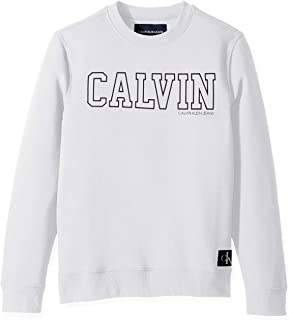 Calvin Klein Men's Crew Neck Sweatshirt with Tonal Rib Tipping