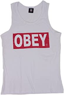 OBEY オベイ ブランドロゴ タンクトップ(ホワイト)【並行輸入品】