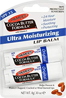 Palmer's Cocoa Butter Ultra Moisturizing Lip Balm SPF 15 Duo for Unisex, 2 Count