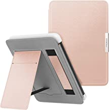 MoKo Case for Kindle Paperwhite, Premium PU Leather PC Hard Shell Smart Stand Cover Fits All Paperwhite Generations Prior to 2018 (Will not fit All-New Paperwhite 10th Generation), Rose Gold