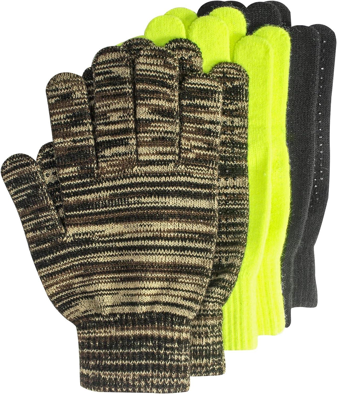 Milwaukee Mall Muk Luks Men's 3-Pair Pack Gloves-Multi Topics on TV Grip Assorted Dot