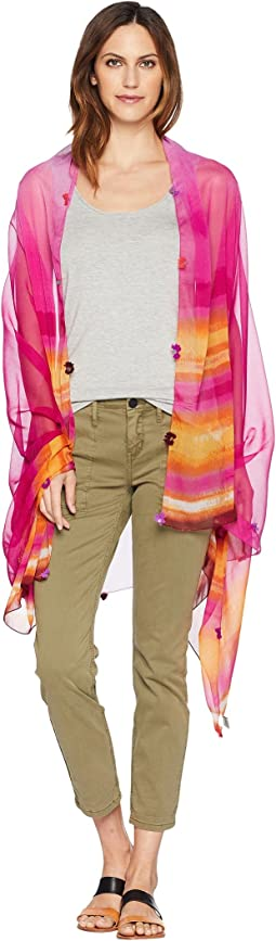 Tie-Dye Stripe Oversized Wrap