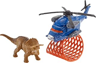 Matchbox Jurassic World Dino Transporters Tricera-copter Vehicle and Figure
