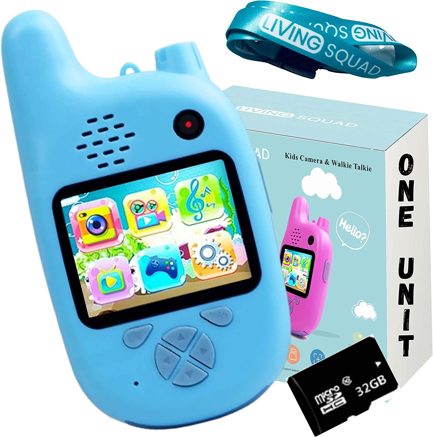 Kids Digital Camera with Walkie Blue Extra Function- Talkies Manufacturer OFFicial shop ONE Tucson Mall