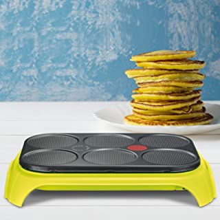 Tefal Crep'Party Colormania, Crêpier, Surface Antiadhésive, Fonction Thermospot, 1000W, Vert Cactus PY559312