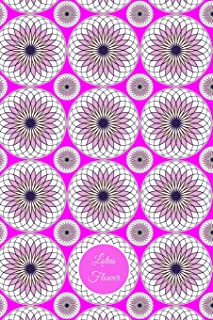 Lotus Flower: Lined Journal - Lavender and White vector art on a purple background