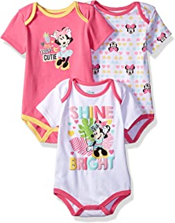 Baby Girls' Minnie Mouse 3 Pack Bodysuits