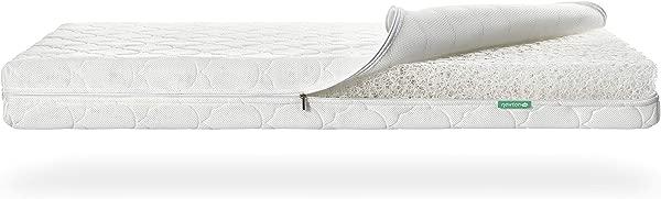 牛顿婴儿婴儿床床垫备用盖 100 透气证明减少窒息风险安全可机洗无毒休息易云白