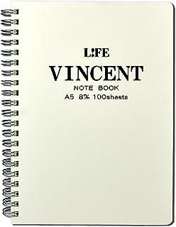 ライフ VINCENT ノート 8mm横罫 A5 白 N185B