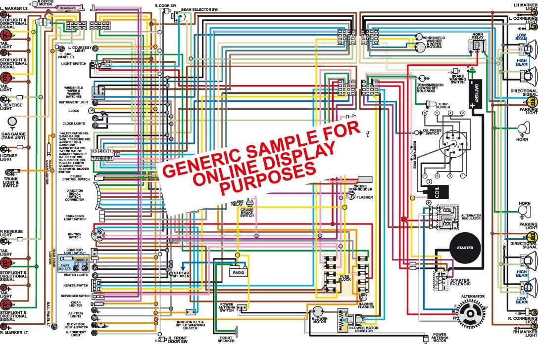 Amazon.com: Full Color Laminated Wiring Diagram FITS 1964 Ford Fairlane  Color Wiring Diagram 18