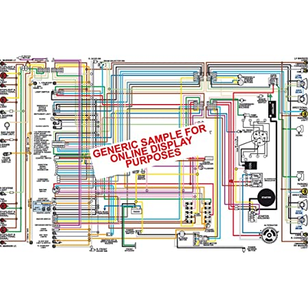 Amazon.com: Full Color Laminated Wiring Diagram FITS 1969 Chevy Chevelle  Malibu El Camino SS Color Wiring Diagram 18