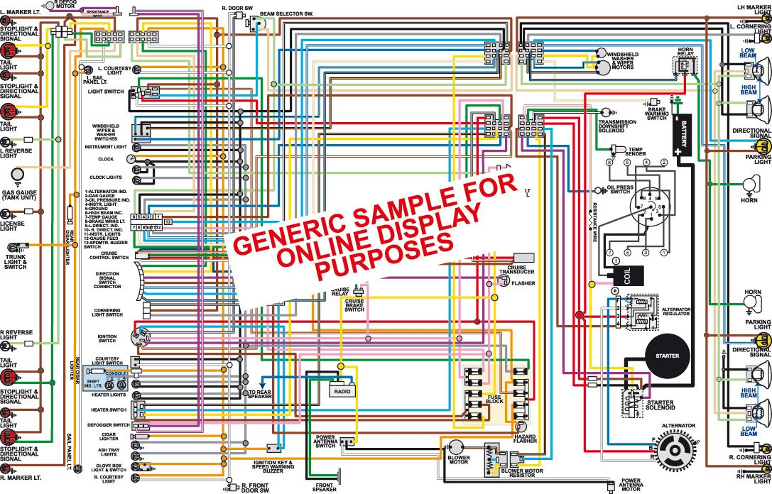 Amazon Com Full Color Laminated Wiring Diagram Fits 1968 Plymouth Barracuda Color Wiring Diagram 18 X 24 Poster Size Automotive