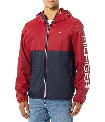 Tommy Hilfiger Colorblocked Logo Rain Slicker Jacket