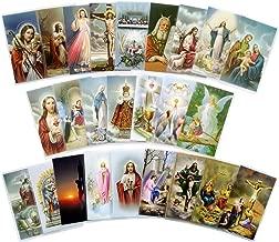 Assorted Catholic Laminated Prayer Cards - Pack of 25 Prayer Cards