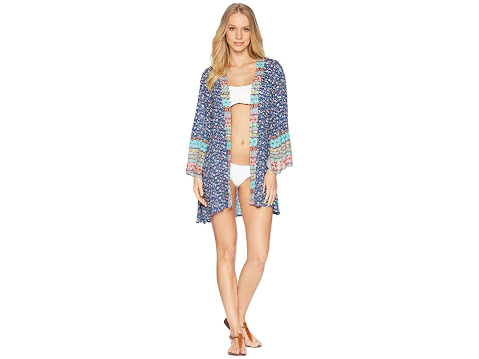 Laundry by Shelli Segal Patchwork Kimono Cover-Up (Multi) Women
