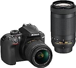 Nikon D3400 DSLR Camera with AF-P DX NIKKOR 18-55mm f/3.5-5.6G VR and AF-P DX NIKKOR..