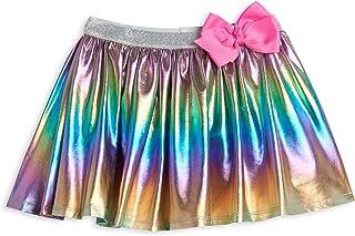 JoJo Siwa Little/Big Girls Metallic Pleated Skirt Skort with Bow
