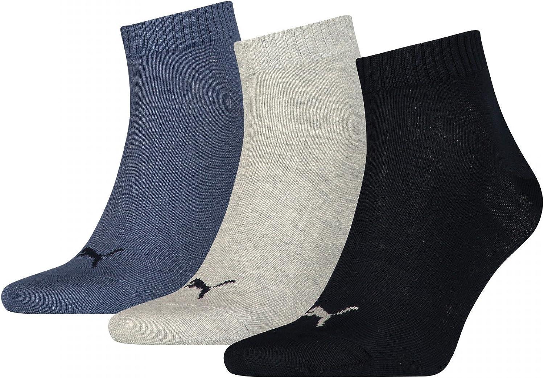 Amazon.com: 3 Pack Puma Unisex Cotton Rich Quarter Sports Sock ...