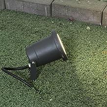 Lámpara de exterior moderna en antracita GU10 230V lámpara de pie de aluminio fundido y cristal para lámparas de terraza de jardín lámpara de exterior