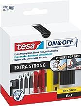 tesa On & Off Extra Strong Klittenband - Sterke zelfklevende klittenbandtape - Zware voorwerpen bevestigen zonder boren - ...
