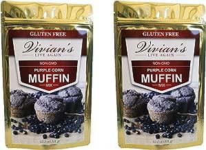 Purple Corn Muffin Mix- Non-GMO, Gluten Free, Whole Grain 2Pk